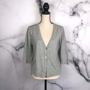 🦋GAP🦋 grey 3/4 sleeve cardigan
